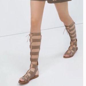 ZARA nude gladiator sandals
